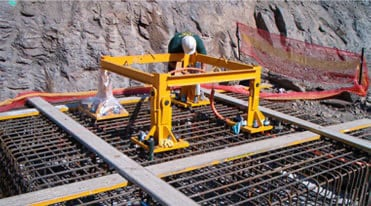 a crane base being installed before the crane can be erected
